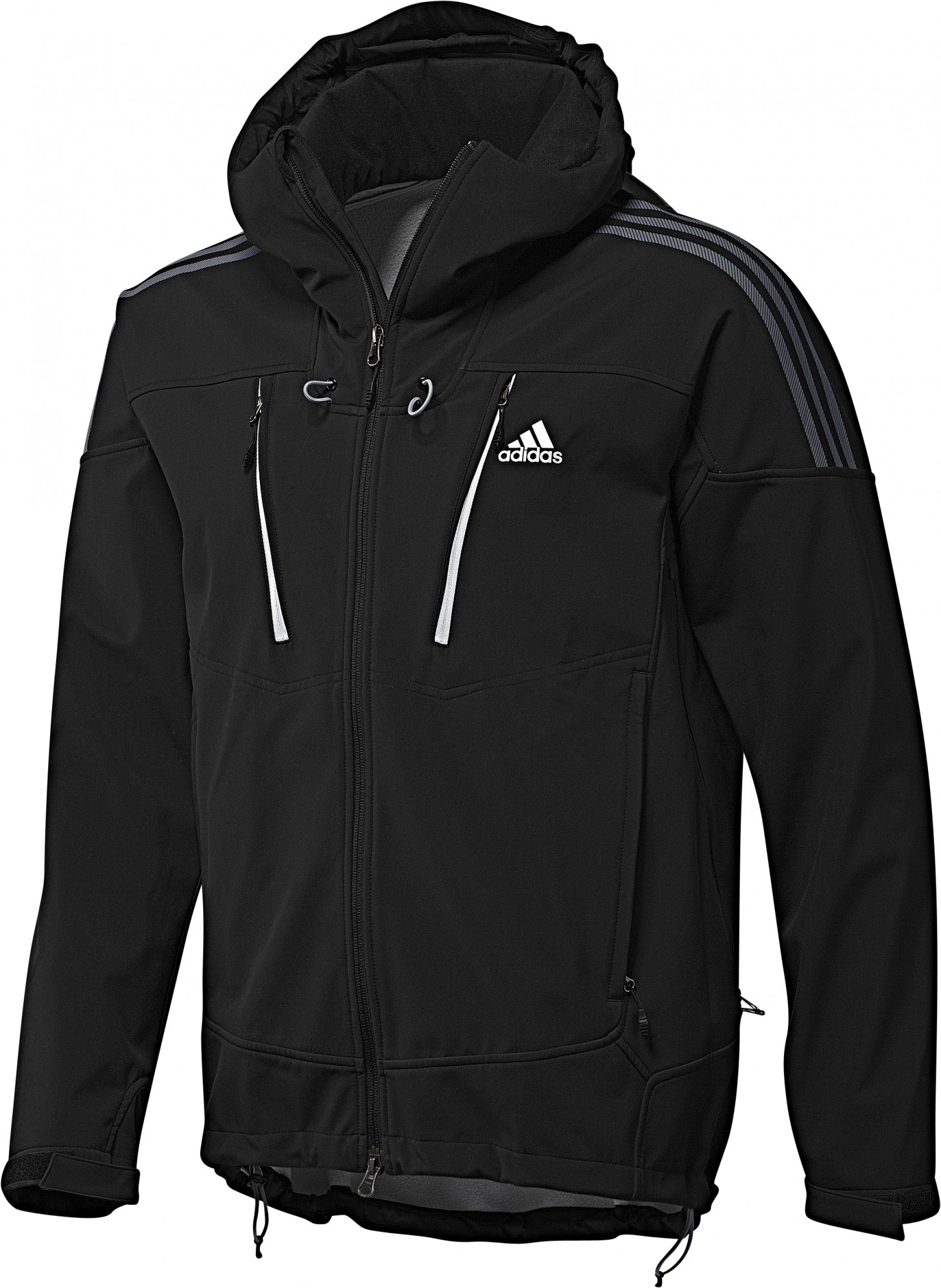 adidas ts softshell hooded jacket gr 50 schwarz softshell jacke funktionsjacke ebay. Black Bedroom Furniture Sets. Home Design Ideas