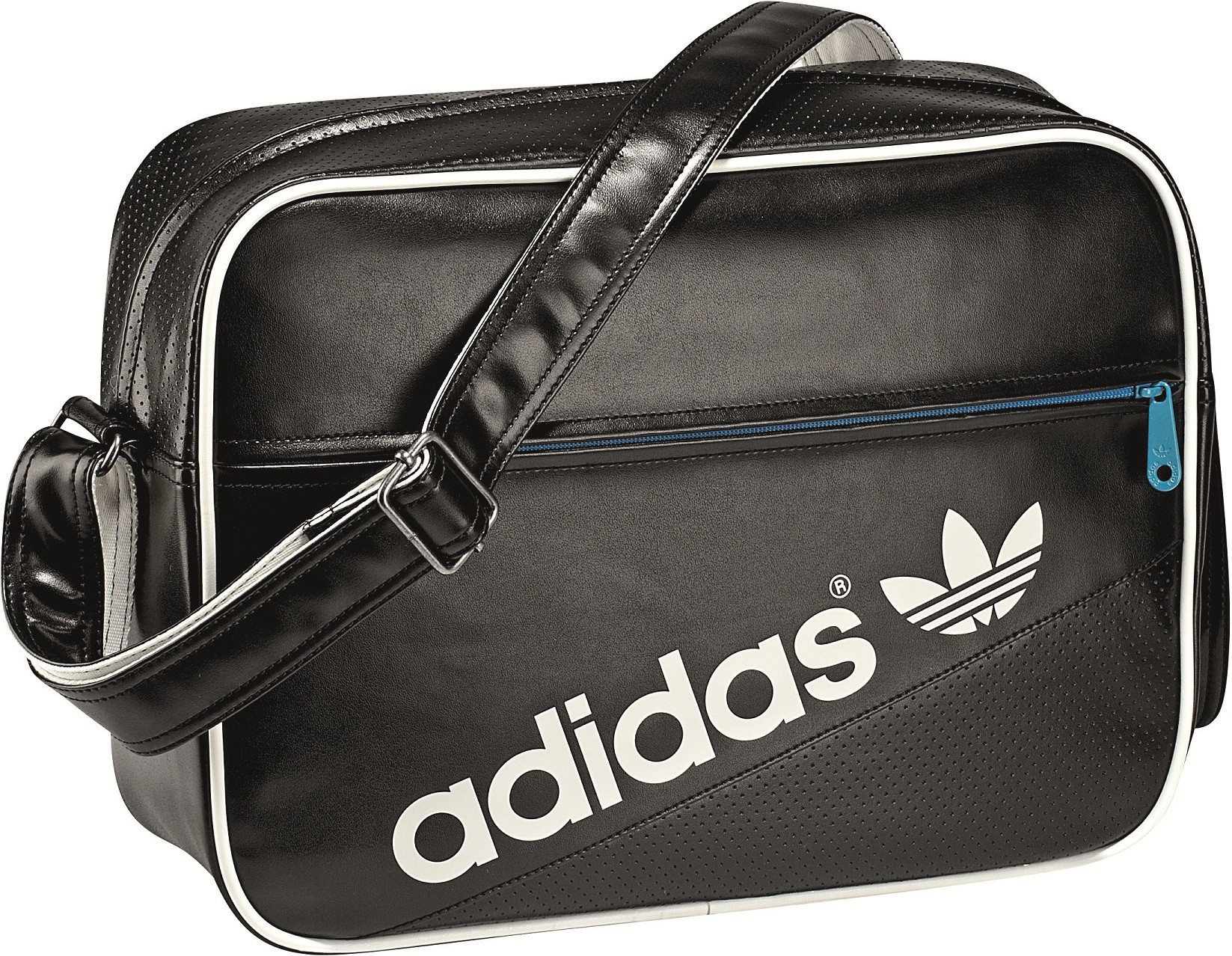 adidas m nner perforierte airline tasche schwarz wei ebay. Black Bedroom Furniture Sets. Home Design Ideas